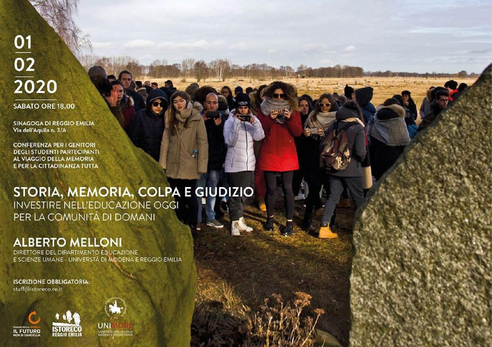 """""""Storia, memoria, colpa e giudizio"""" – incontro per genitori con Alberto Melloni"""