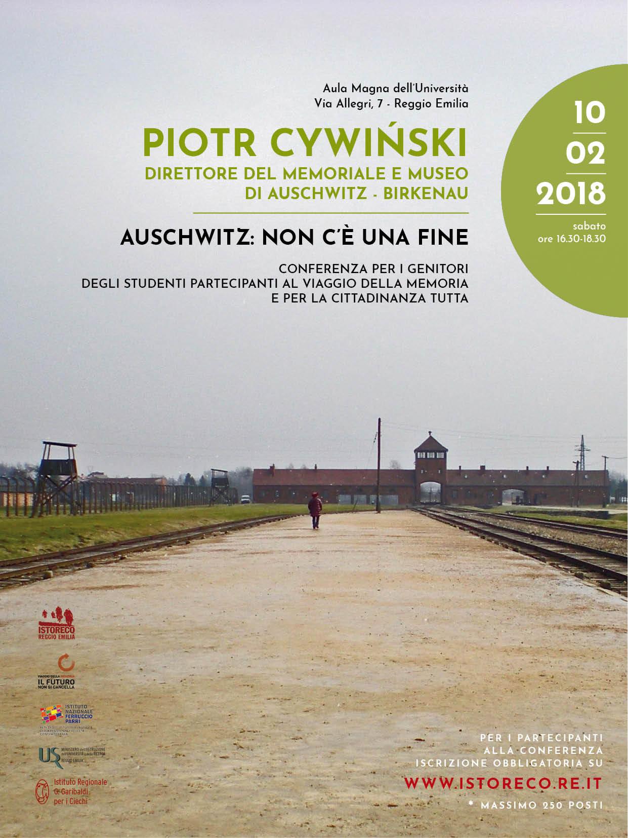 Il nostro grazie: un incontro a Reggio col direttore del memoriale di Auschwitz
