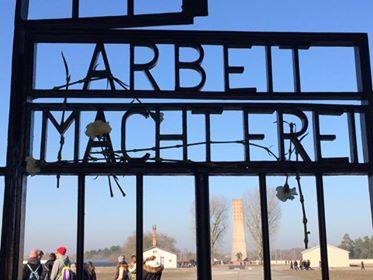 Il cancello all'ingresso del campo di Sachsenhausen