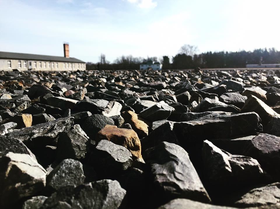 I'interno del campo di Sachsenhausen